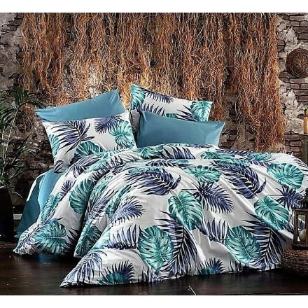 Nagy kék leveles , 100% pamut ágynemű huzat