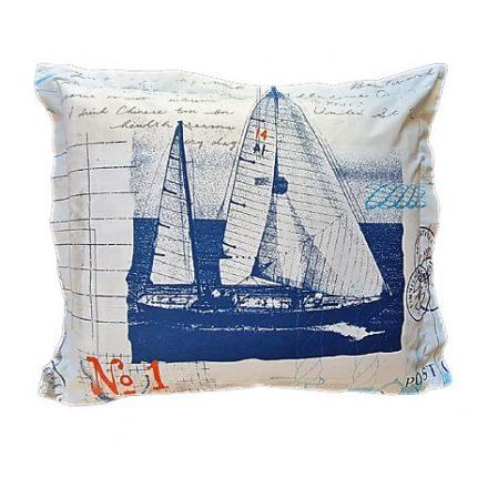 Tengerész hajós-kék alvó párna