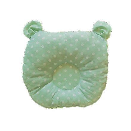 Pöttyös-zöld színű,kutacs baba párna