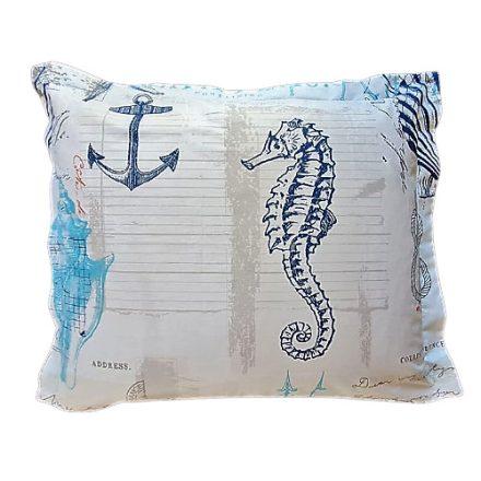 Tengeri csikó-kék alvó párna