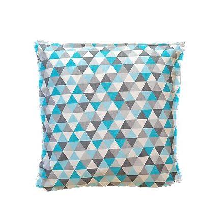 Világos kék háromszögek, alvó párna