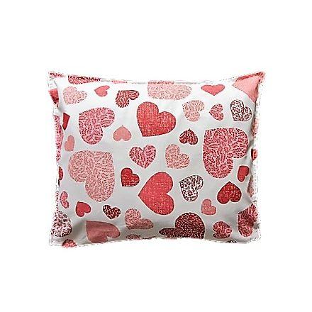 Szívek - piros téglalap alakú alvó párna