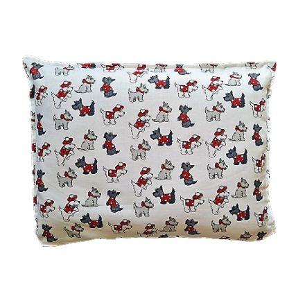 Westie kiskutyás téglalap alakú alvó párna.