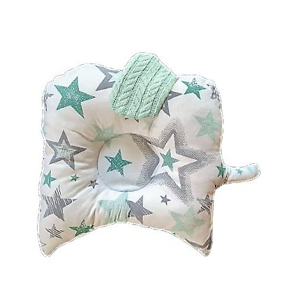 Csillagok menta zöld színű,kutacs baba párna