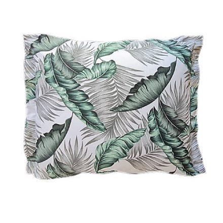 Zöld-szürke leveles alvó párna