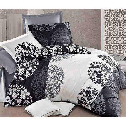 Fekete-fehér, 100% pamut ágynemű huzat