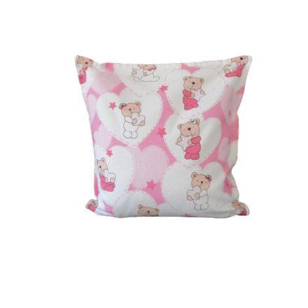 Rózsaszín szíves macik alvó párna