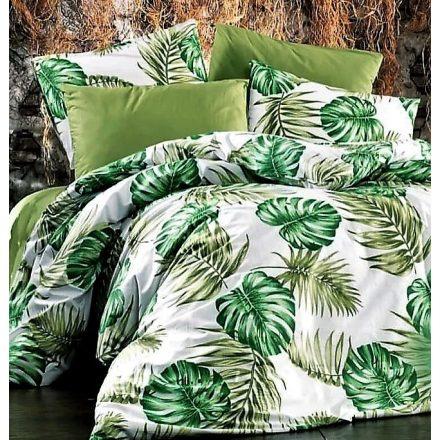 Nagy zöld leveles , 100% pamut ágynemű huzat