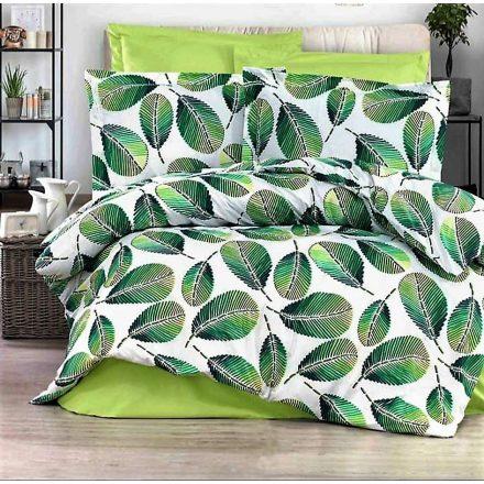 Mintás zöld leveles , 100% pamut ágynemű huzat