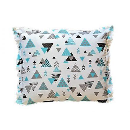 Modern világ,színes háromszögek alvó párna
