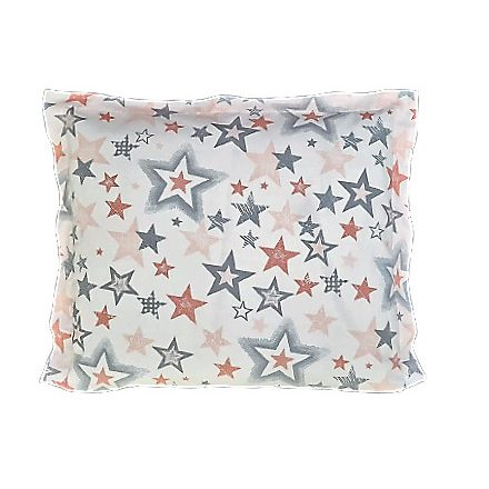 Rózsaszín szürke csillagok-lazac alvó párna
